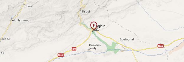 Carte Tineghir - Maroc