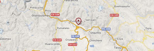Carte Urubamba - Pérou