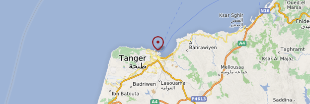 Carte Tanger - Maroc