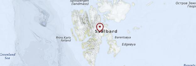Carte Spitzberg - Norvège