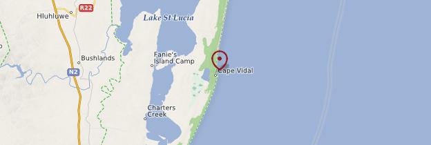 Carte Cape Vidal - Afrique du Sud