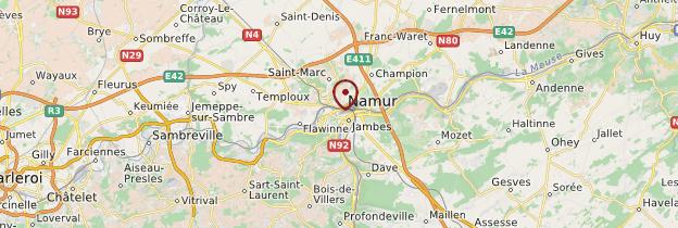 Carte Namur - Belgique