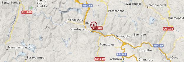 Carte Ollantaytambo - Pérou