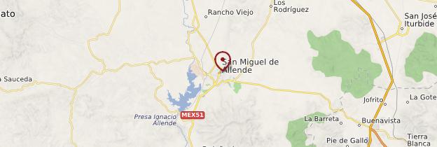 Carte San Miguel de Allende - Mexique