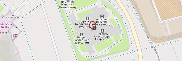 Carte Cathédrale Basile-le-Bienheureux - Moscou