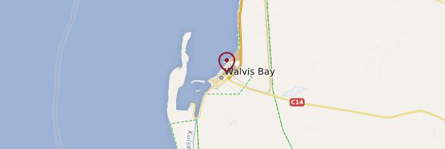 Carte Walvis Bay - Namibie