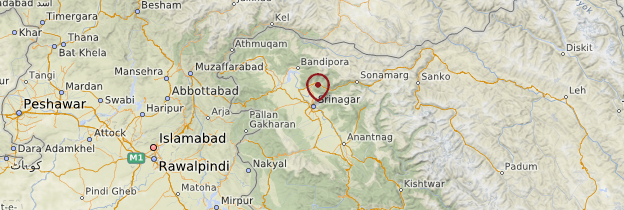 Carte Srinagar - Inde
