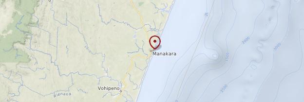 Carte Manakara - Madagascar