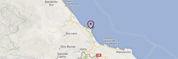 Carte Playa Negra - Costa Rica