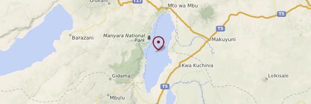 Carte Parc national du lac Manyara - Tanzanie