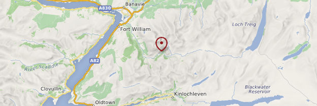 Carte Ben Nevis - Écosse