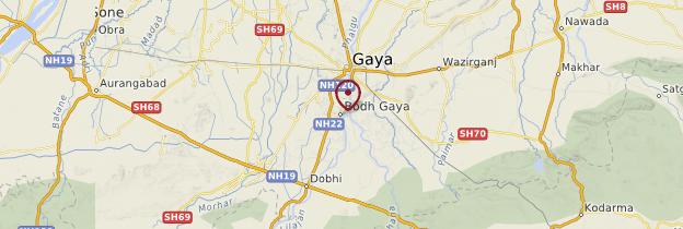 Carte Bodhgaya - Inde