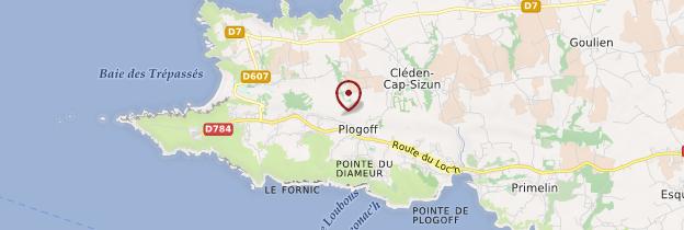 Carte Pointe du Raz - Bretagne