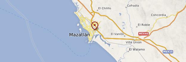 Carte Mazatlán - Mexique