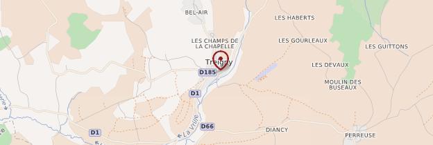 Carte Treigny - Bourgogne