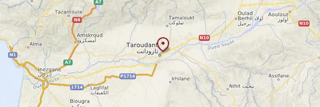 Carte Taroudant - Maroc
