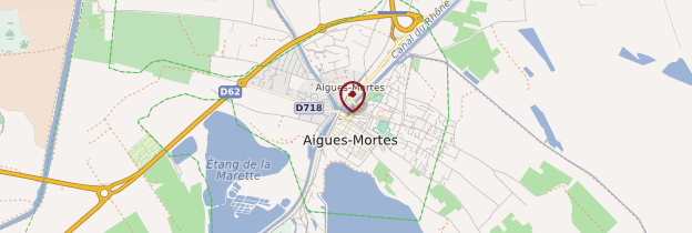 Carte Aigues-Mortes - Languedoc-Roussillon