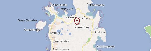 Carte Île de Nosy Be - Madagascar