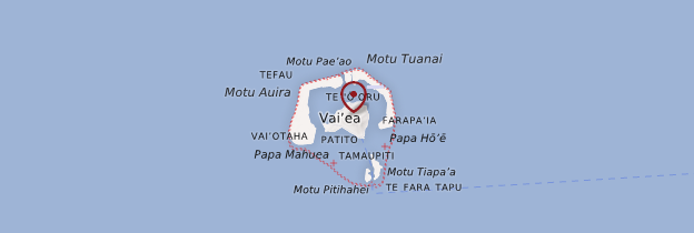 Carte Maupiti - Polynésie française