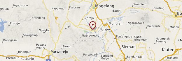 Carte Borobudur - Indonésie