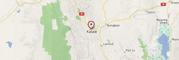Carte Kalaw - Birmanie