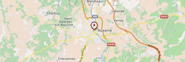 Carte Auxerre - Bourgogne