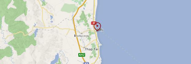 Carte Hua Hin - Thaïlande