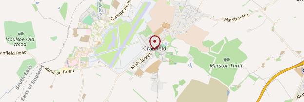 Carte Cranfield - Angleterre