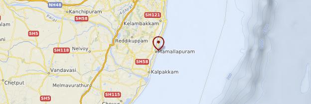 Carte Mahabalipuram (Mamallapuram) - Inde