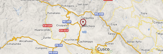 Carte Chinchero - Pérou