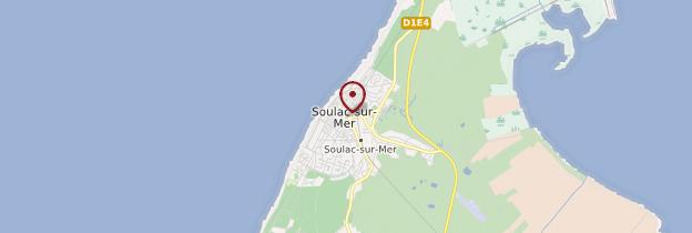 Carte Soulac-sur-Mer - Aquitaine - Bordelais, Landes