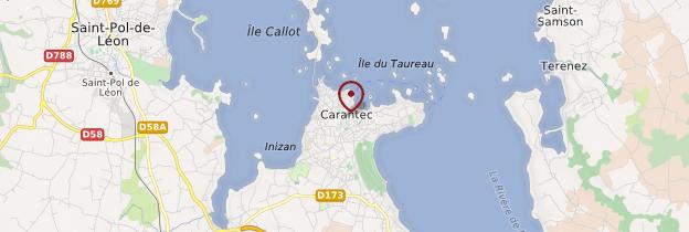 Carte Bretagne Carantec.Carantec Karanteg Finistere Guide Et Photos Bretagne