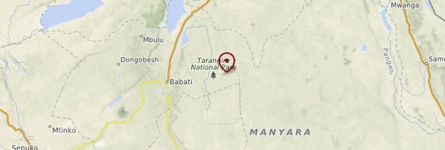 Carte Parc national de Tarangire - Tanzanie