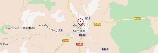 Carte Courson-les-Carrières - Bourgogne