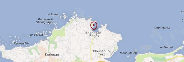 Carte Brignogan-Plages (Brignogan) - Bretagne