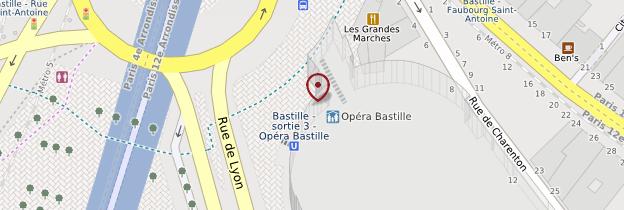 Carte Opéra-Bastille - Paris