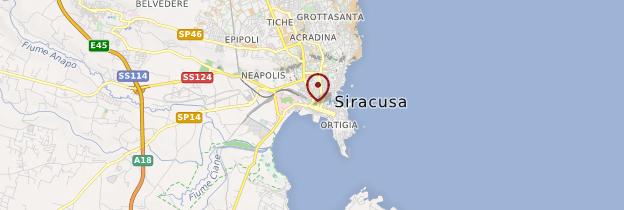 Carte Syracuse - Sicile
