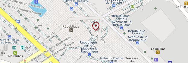 Carte Place de la République - Paris