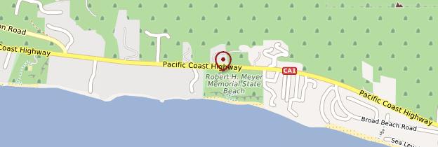 Carte El Matador beach - Californie