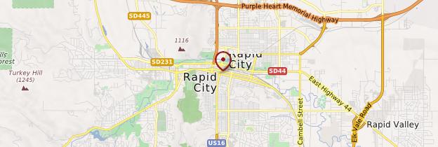 Carte Rapid City - États-Unis