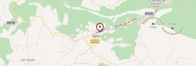 Carte Saoû - Ardèche, Drôme