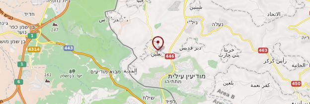 Carte Ni'lin - Israël, Palestine