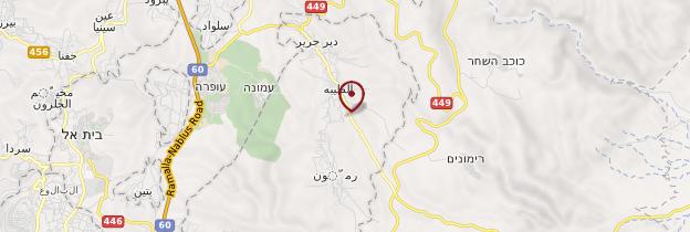 Carte Naplouse - Israël, Palestine