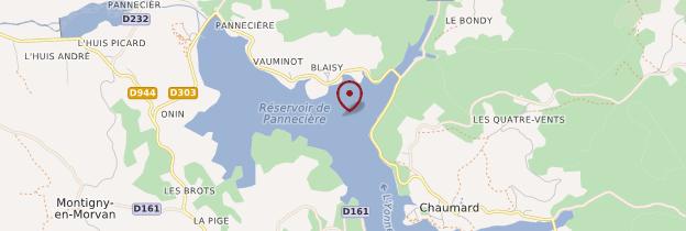 Carte Lac de Pannecière - Bourgogne