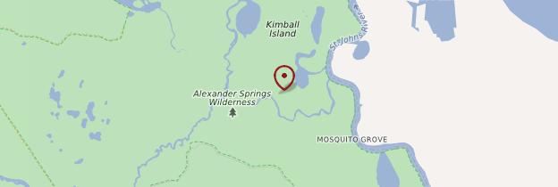 Carte Alexander Springs Recreation Area - Floride