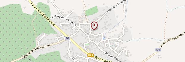 Carte Pleumeur-Bodou - Bretagne