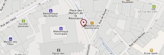 Carte Couvent des Dominicains - Alsace