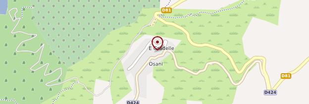 Carte Osani - Corse