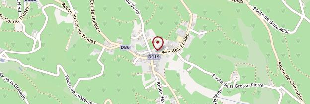 Carte Chiroubles - Lyon et ses environs