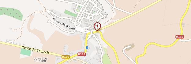 Carte Fanjeaux - Languedoc-Roussillon